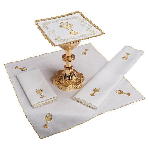 Chalice & Host Altar Linen Set | 100% Linen