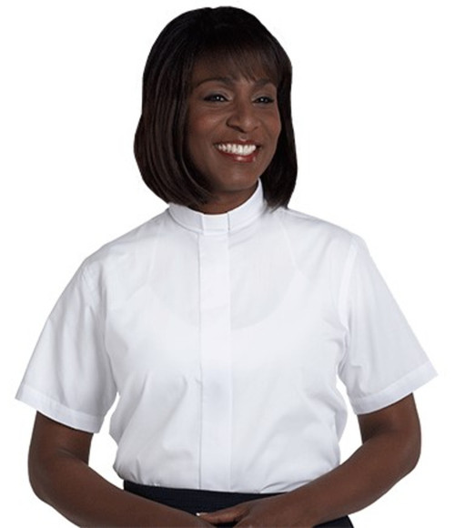 #SW-102 Women's Clergy Shirt | Tab Collar | Short Sleeve
