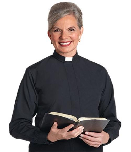 #SW-104 Women's Clergy Shirt | Tab Collar | Long Sleeve