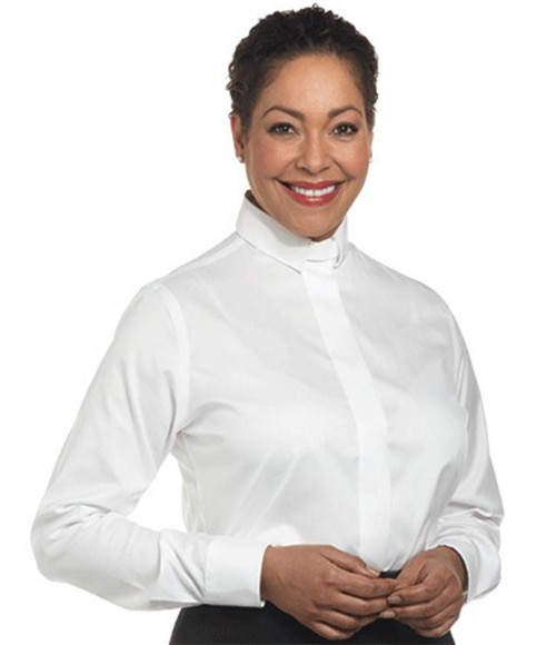 #SW-111 Women's Clergy Shirt | Tab Collar | Long Sleeve