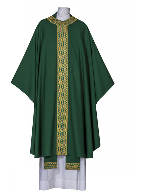 #8006 Sienna Collection Chasuble | Plain Collar | Multiple Fabrics | All Colors