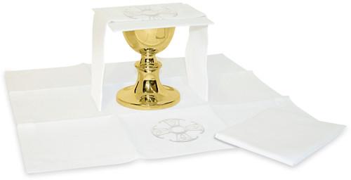 Canterbury Cross Motif Altar Linens | Blended Linen | Full Set Only