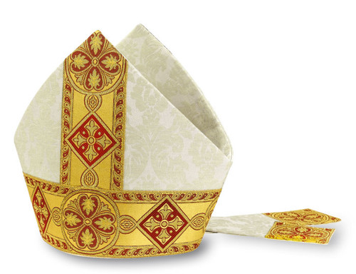 #5291 Woven Gold Galoon Mitre | 100% Polyester