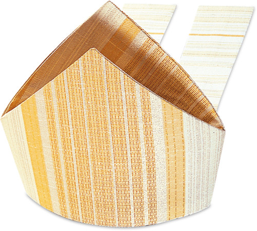 #19 Gold Woven Mitre | Viscose | All Colors
