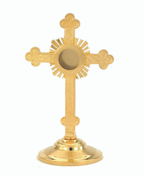 #7313 Cross Reliquary | 24K Gold-Plated
