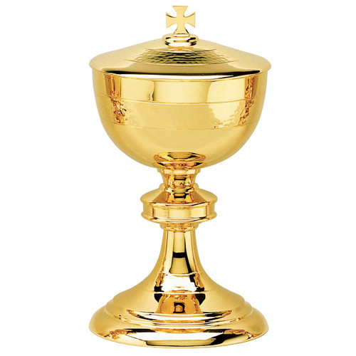 #1895 Hand-Hammered Covered Ciborium | 24K Gold-Plated