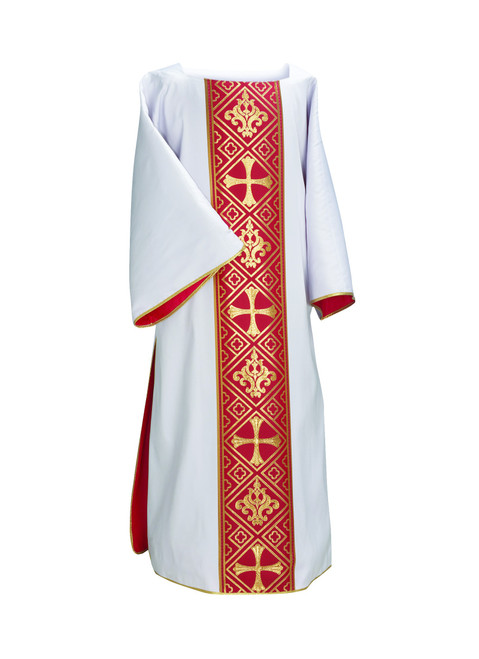 #7014 Nice Collection Dalmatic | Plain or Roll Collar | Poly/Cotton