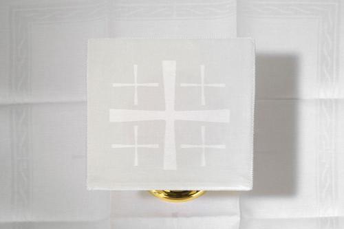 Embroidered Jerusalem Cross Altar Linen Set | 100% Linen