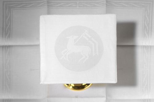Embroidered Lamb of God Altar Linen Set | 100% Linen