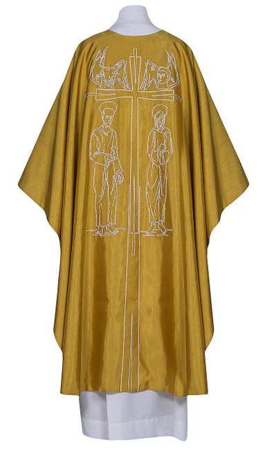 #0425 Four Evangelists Chasuble | Plain Collar | Poly/Silk
