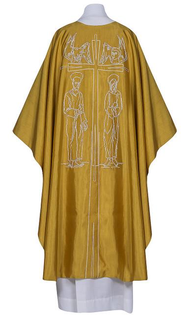 #0425 Four Evangelists Chasuble | Plain Collar | Poly/Silk