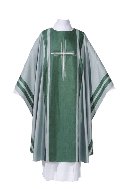 #1261 Damien Chasuble | Plain Collar | Poly/Silk | All Colors