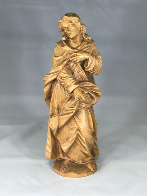 "11"" St. John the Evangelist Wood Statue 