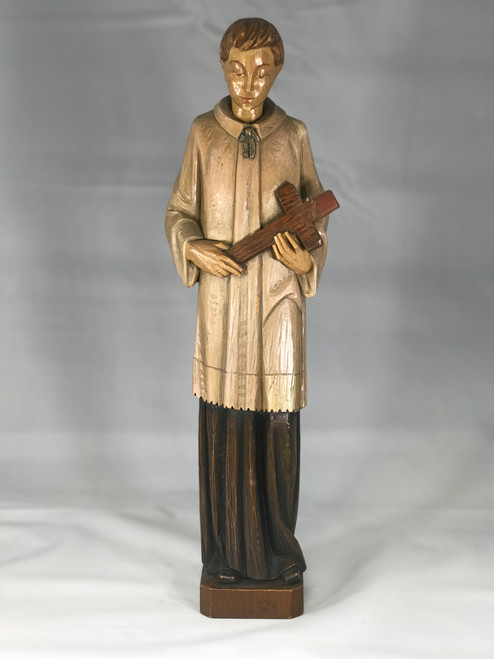 "16"" St. John Berchman Wood Statue 