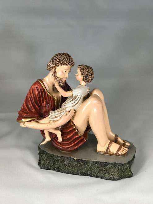 """8"""" St. Joseph with Jesus Statue 