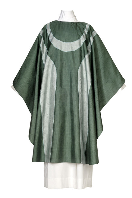 #1187 Damien Modern Chasuble | Plain Collar | Poly/Silk | All Colors