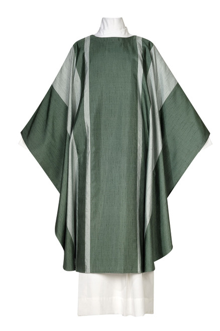 #1028 Damien Modern Chasuble | Plain Collar | Poly/Silk | All Colors
