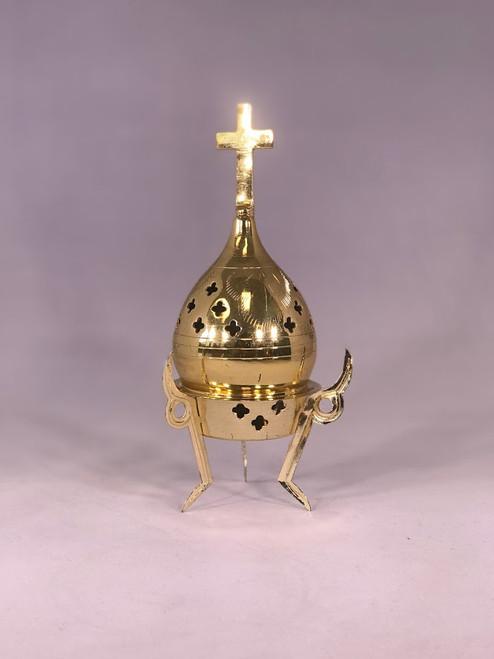 Three-Leg Personal Incense Burner | Solid Brass