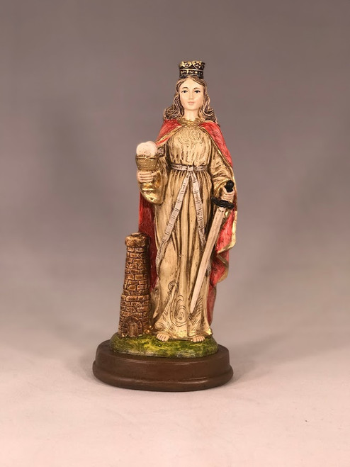 "8"" St. Barbara Statue 