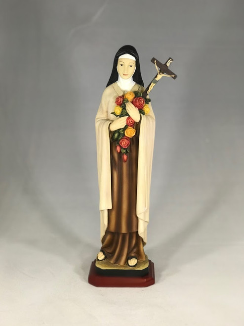 """12.5"""" St. Therese of Lisieux Statue 