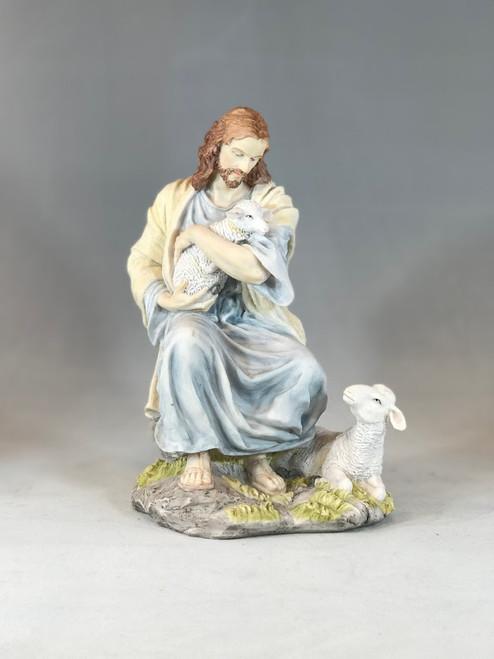 "9"" Good Shepherd Figure | Resin/Stone"
