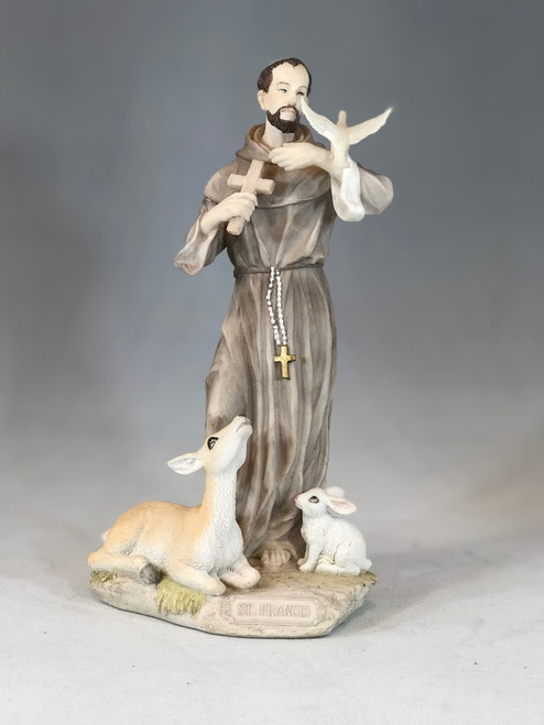 """9"""" St. Francis with Animals Statue 