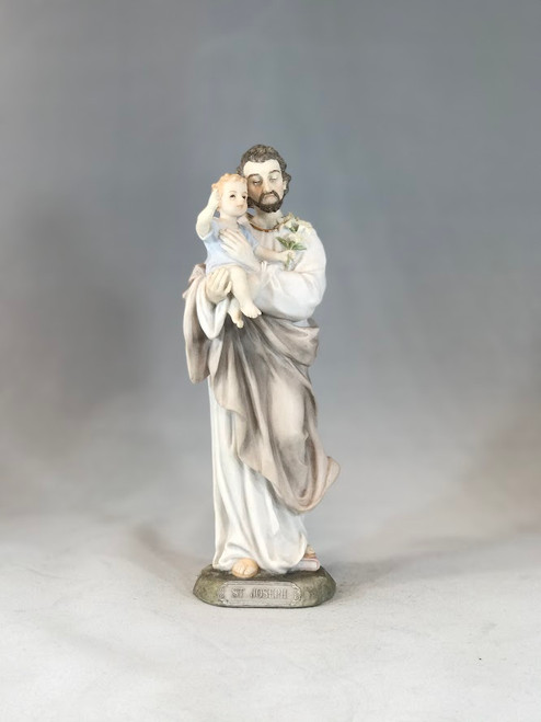 "8"" St. Joseph Statue | Resin/Stone"