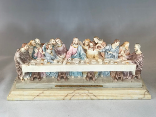"""14.25"""" Last Supper Table Top Statue 