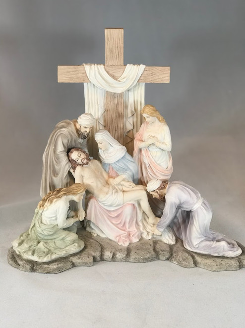 "12.5"" The Descent From The Cross Statue 