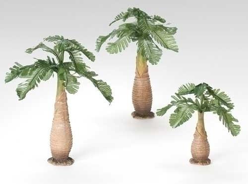 "3-Piece Palm Tree Set | 5"" Scale | Fontanini Italian Nativity"