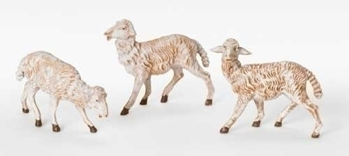 "Set of Sheep - 3 Pieces | 7.5"" Scale | Fontanini Italian Nativity"