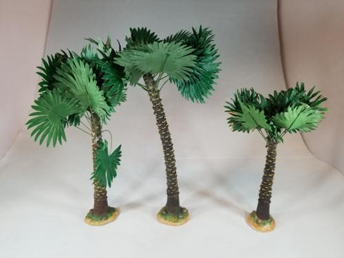 "3-Piece Fan Palm Tree Set | 5"" Scale | Fontanini Italian Nativity | Retired"