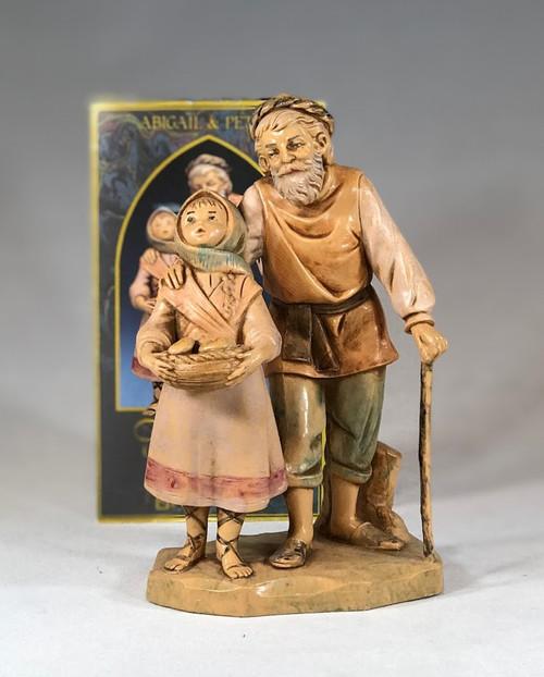 "Abigail & Peter | Limited Edition 1994 Figure |  5"" Scale | Fontanini Italian Nativity | Retired"