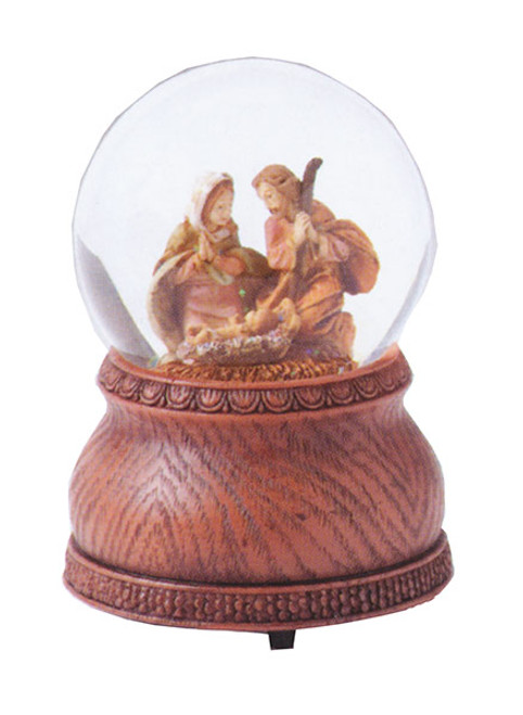 Nativity Musical Glitterdome | Silent Night | 5"
