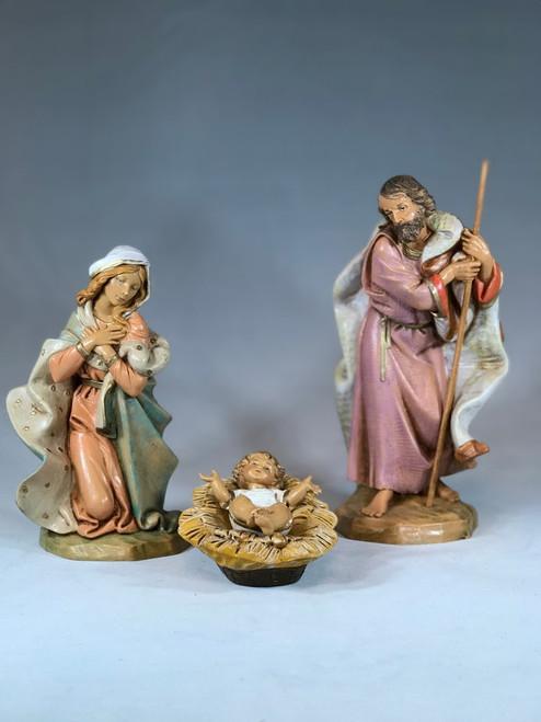 "Holy Family - 3 Piece Set | 7.5"" Scale | Fontanini Italian Nativity | Retired"