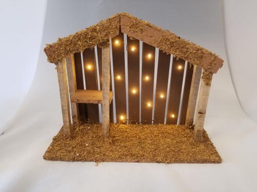 "LED Stable | 5"" Scale | Fontanini Italian Nativity | Retired"