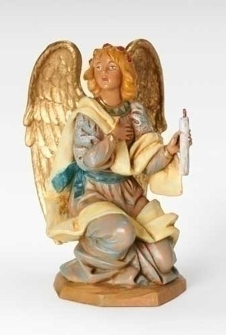 "Kneeling Angel | 7.5"" Scale | Fontanini Italian Nativity"