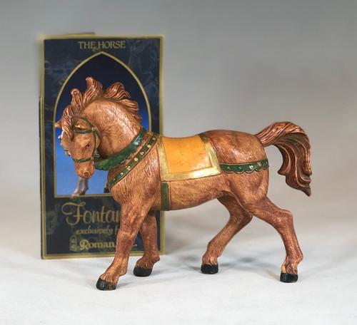 "Brown Horse | 5"" Scale | Fontanini Italian Nativity"