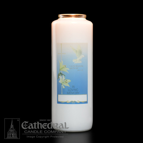 Single In Loving Memory - All Souls Day 6-Day Glass Candles | One Candle