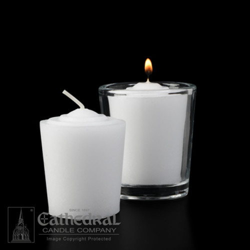 15 Hour Tapered Votive Lights | Box of 36 Candles