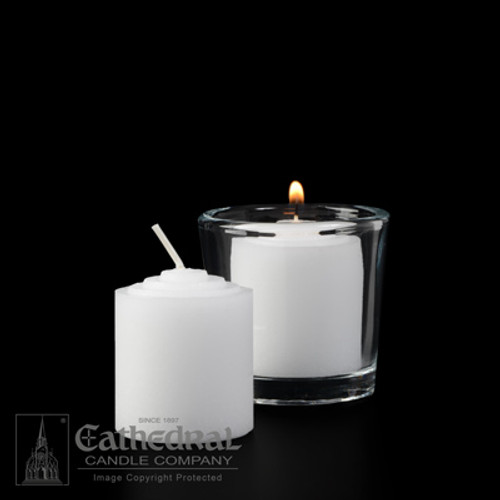 10 Hour Straight Side Votive Lights | Box of 72 Candles