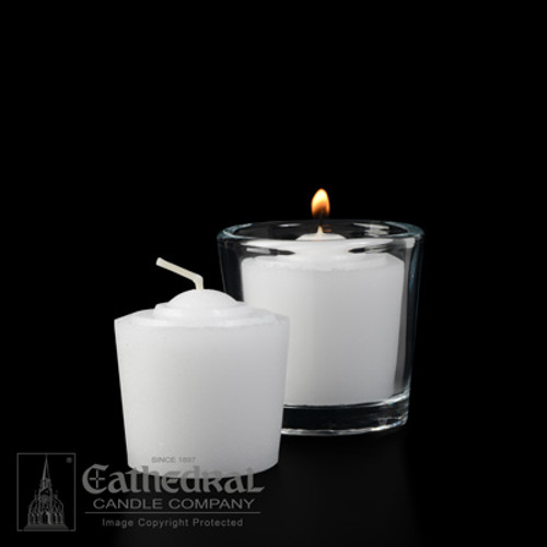 10 Hour Tapered Votive Lights | Box of 48 Candles