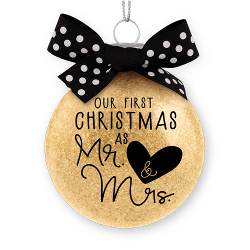 "4"" Our First Christmas As Mr. & Mrs. Ornament 