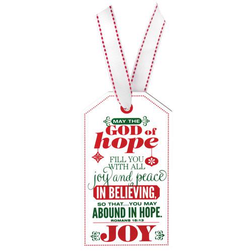 "5"" Joy Tag Ornament | Romans 15:13"