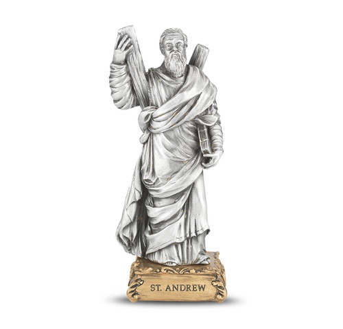St. Andrew the Apostle Pewter Statue