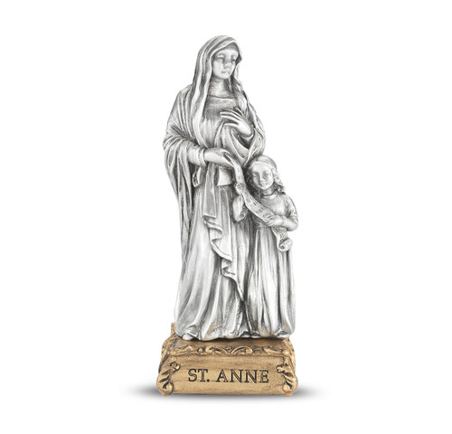 St. Anne (Mother of Mary) Pewter Statue