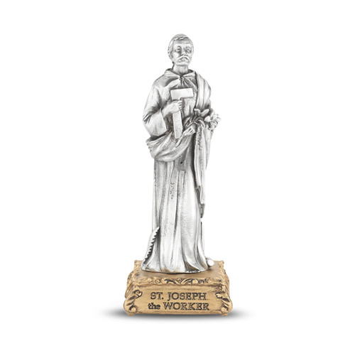 St. Joseph the Worker Pewter Statue