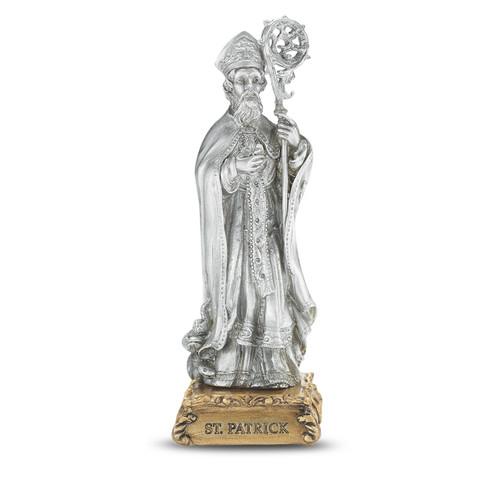 St. Patrick of Ireland Pewter Statue