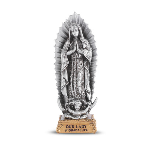 Our Lady of Guadalupe Pewter Statue