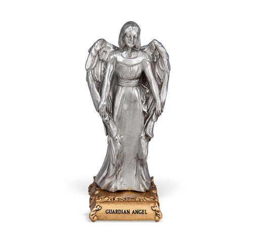 Guardian Angel Pewter Statue